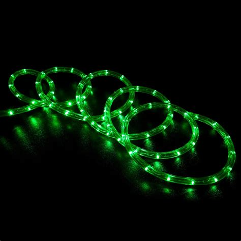 150 green led rope light home outdoor christmas
