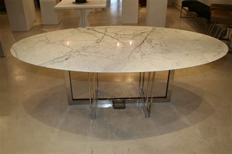 White Marble Dining Tables Emily Summers Studio Line Custom White Marble Dining Table For Sale At 1stdibs