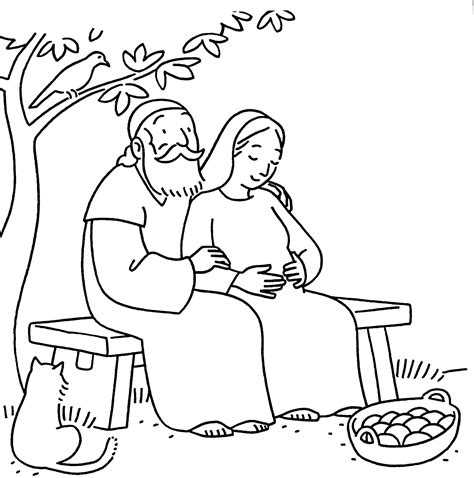 Coloring Page Zacharias And Elizabeth by Elizabeth And Zechariah God S Promises By Michael