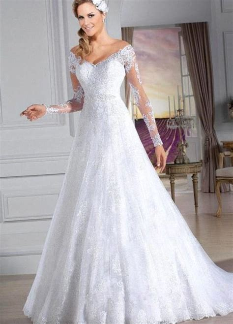 imagenes de vestidos de novia con manga vestidos de novia de manga larga primavera verano 2018