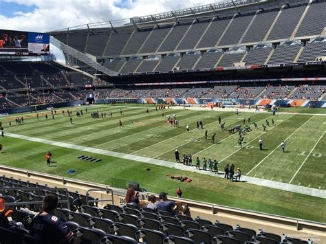 Section 8 In Chicago Suburbs by Soldier Field Section 205 Chicago Bears Rateyourseats