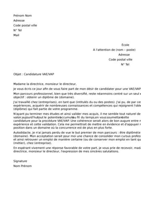 Lettre De Motivation De Magasinier Lettre De Motivation Vae Employment Application
