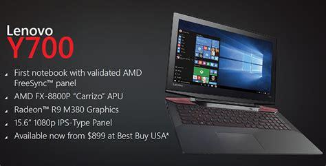 Lenovo Y700 Amd radeon technologies 2016 visual computing update