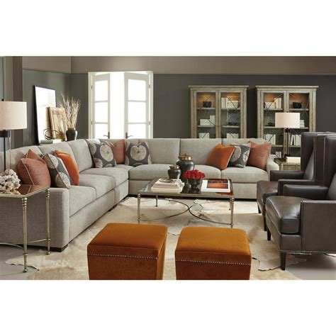 grey tweed sectional sofa denis modern classic tweed grey sectional sofa kathy kuo