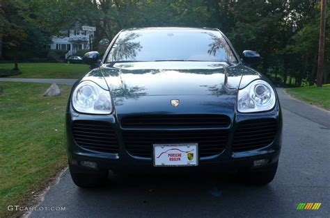 teal porsche 2004 dark teal metallic porsche cayenne turbo 751687