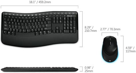 microsoft csd 00001 wireless comfort desktop 5000 keyboard