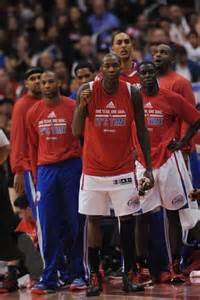 la clippers bench in wake of sterling mess clippers players start healing