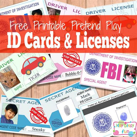 free printable id cards online free printable licenses and id cards for kids free