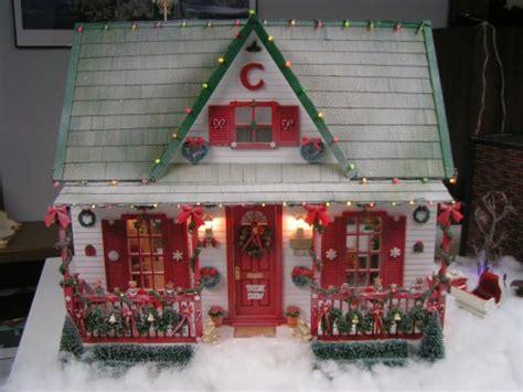 christmas doll houses christmas dollhouse miniatures pinterest christmas houses miniatures and doll