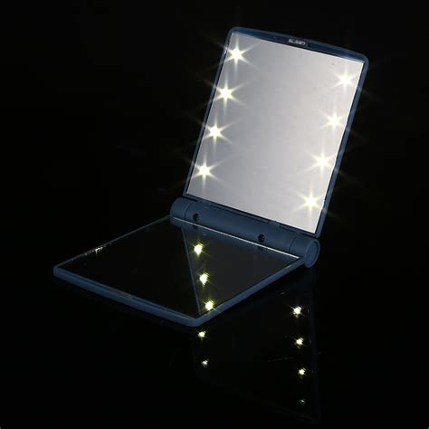 sided light up makeup mirror cosmetic folding up mirror small two sided travel
