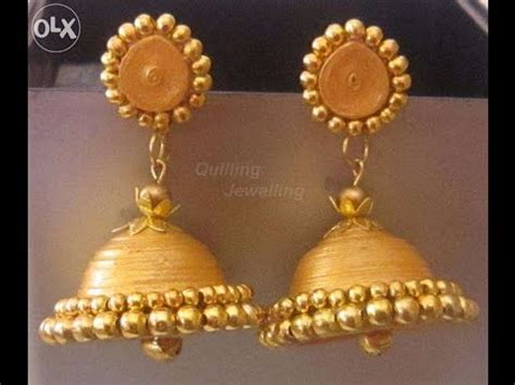 tutorial for quilling jhumkas how to make paper earrings jhumkas www pixshark com