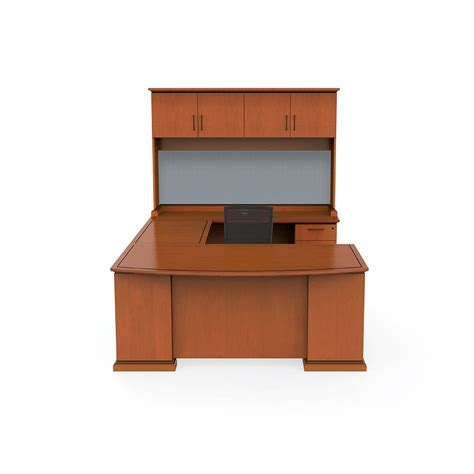 U Desk With Hutch Office Desk U Shape With Hutch And File Drawers