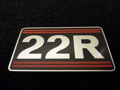 Toyota Sticker New Oem Toyota Truck 22r Valve Sticker Decal Ebay
