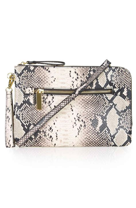 Faux Leather Print Clutch topshop snake print faux leather clutch nordstrom