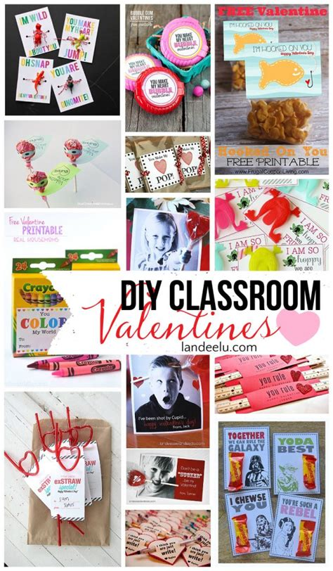 valentines class and easy diy valentines for classmates landeelu