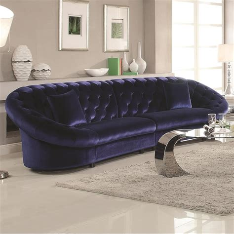 royal blue sectional coaster romanus tufted sectional sofa in royal blue 511041