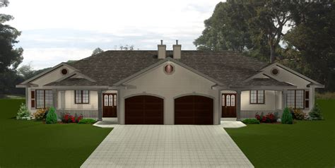 Duplex Houseplans by Ranch Style Duplex Home Plans Styles Of Homes With