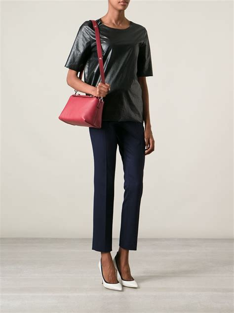 Fendi By The Way Tricolours lyst fendi by the way leather shoulder bag in