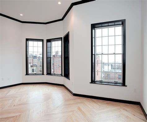 black trim in bedroom design inspiration black molding white walls the