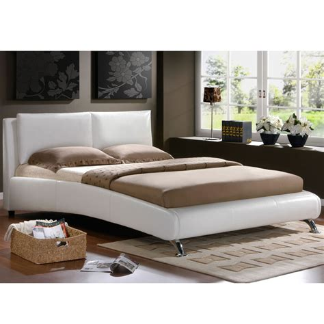 White King Bed Frame Birlea Carnaby Faux Leather Deco Style Bed Frame In White King Size 5 New