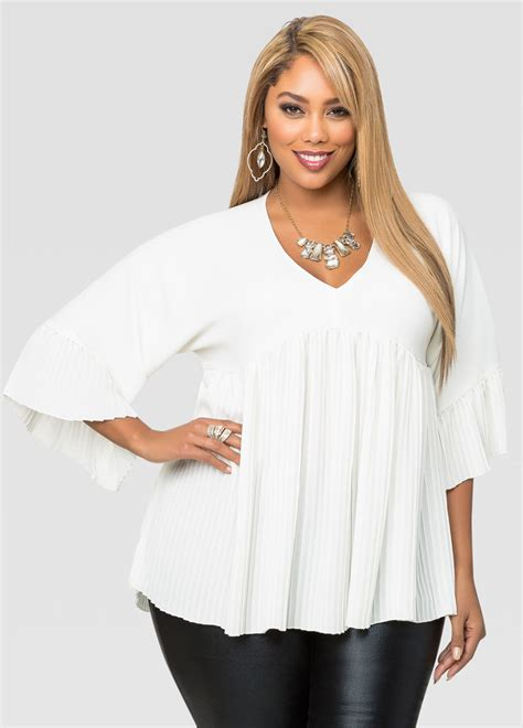 plus size swing tops plisse pleat swing top plus size tops ashley stewart