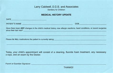 Patient Update Letter Sugar Land Pediatric Dentist Wharton Patient Forms