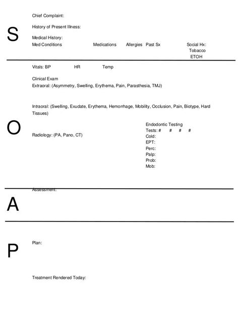 soap template ot soap note template search ot toolkit