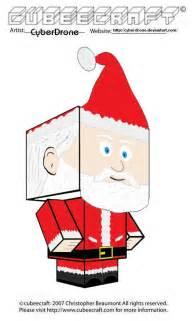 Santa Claus Paper Craft - cubeecraft santa claus by cyberdrone on deviantart