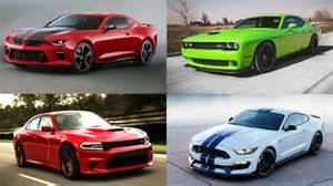 new cars comparison 2016 american car comparison hellcat camaro