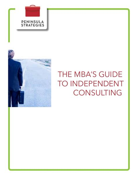 Mba Independent Consulting Course Exle ebook the mba s guide to independent consulting