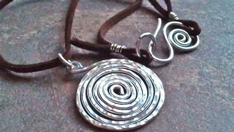 Spiral Silver Necklaces silver spiral hammered necklace aluminum by 74thandavalon