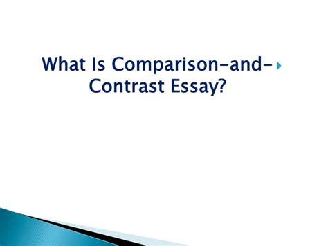 Compare Contrast The Olsens Vs The Trainas by Compare And Contrast Essay Writing