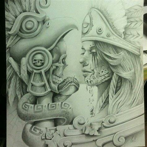azteca lowrider arte pinterest