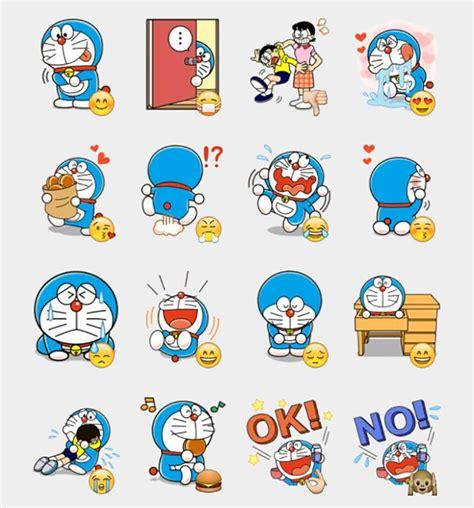 doraemon  stickers set telegram stickers kawaii