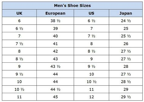 shoes sizes new calendar template site
