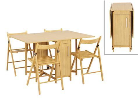 Ensemble modulable table   4 chaises EMELINE   Hêtre massif
