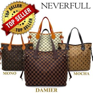 Setelan Lv handbagku tas lv neverfull damier grosir fashion wanita