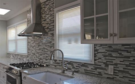 Glass Backsplash Kitchen Mosaic Glass And Marble Backsplash New Jersey Custom Tile