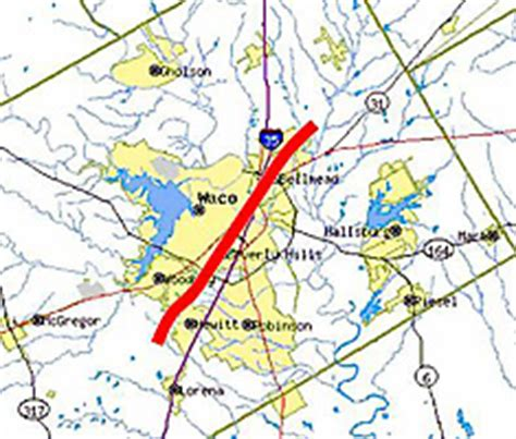 map of waco texas and surrounding area nws ft worth