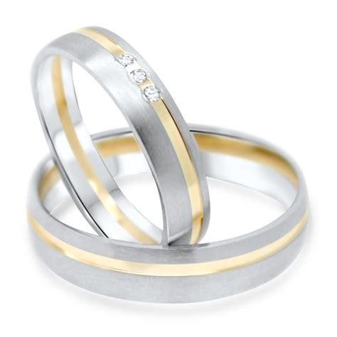 Eheringe Gold Mit 3 Diamanten by Trauringe 585 Gold 0 03 Karat Eheringe Mit Diamanten