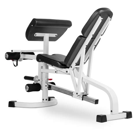 white weight bench the x mark fid flat incline decline weight bench with leg extension and preacher curl