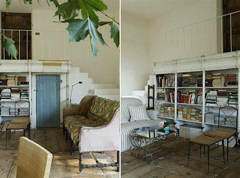 Rustic yet elegant house in Biarritz, France designed by ... Wooden Simple Sofa Chair