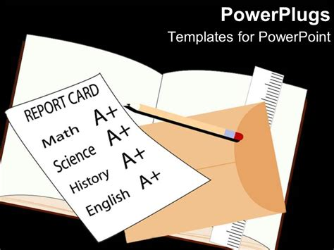 medicare card themed powerpoint templates powerpoint template school report card with a grades on