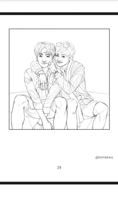 Bts V Coloring Pages by Vkook Fanart From Bts Coloring Book Army S Amino