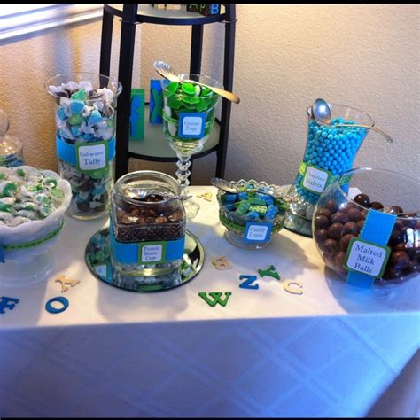 Baby Shower Bars by Baby Shower Bar Boy Colors Deco Boy