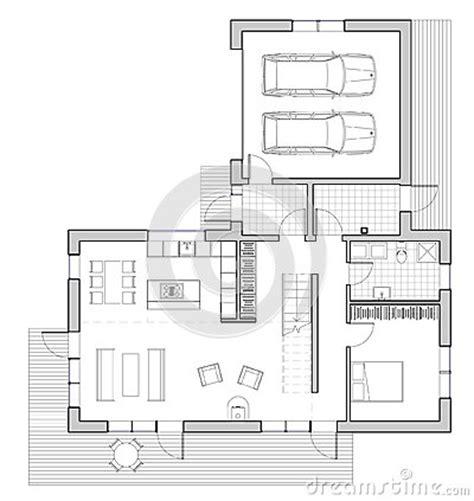 pianta casa unifamiliare disegno casa unifamiliare illustrazione di stock