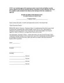 corporate resolution authorized signers template 5 14 resolution to open bank account