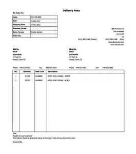 Delivery Note Template by Delivery Note Template 20 Free Word Pdf Format