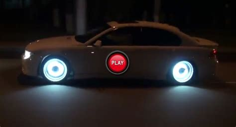 glowing bmw emblem bring in the light bmw 7 series with glowing rims