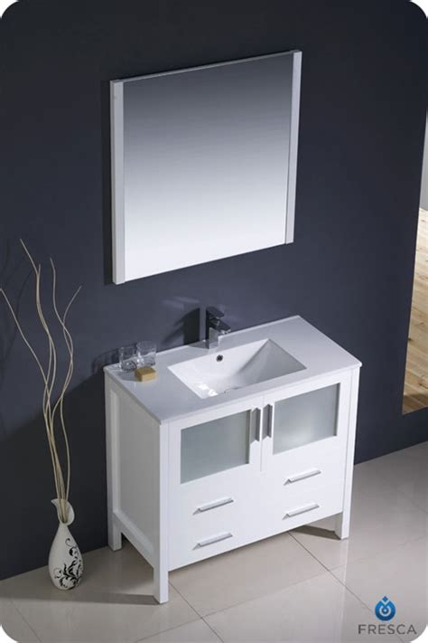 zen bathroom with integrated cabinetry modern bathroom 36 torino white modern bathroom vanity w integrated sink